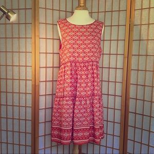 Max Studio Orange Tile Pattern Dress